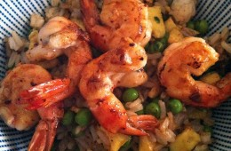 Riz cantonnais aux crevettes